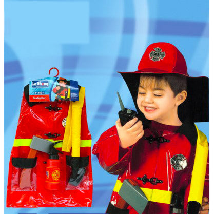 Childrens Deluxe Fire Fighter Costume Ages 4-7