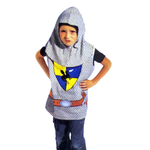 Fancy Dress Costume - Childrens Medieval Knight Costume Ages 4-7
