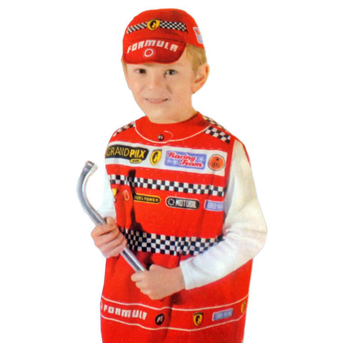 Childrens Racing Driver Costume Ages 4-7