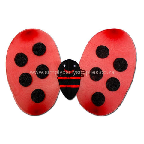 Girls Red Ladybird Wings