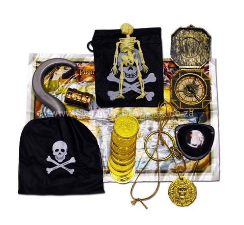 Pirates Loot Bag With Hook And Compass