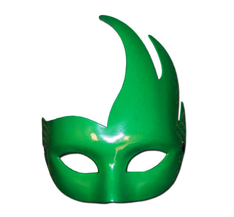 Masquerade Mask - Plain Forest Green Winged Style Masquerade Mask