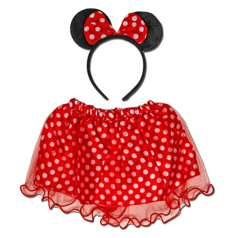 Fancy Dress Costume - Minnie Mouse Tutu And Ears