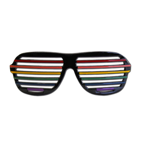 Super Cool Dude Costume Glasses 1980's, accessories, fancy dress, funny, glasses, masquerade, mens, multi-colour, womens