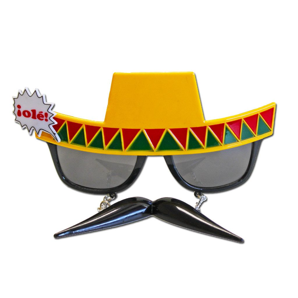 Mexican Moustache Costume Glasses accessories, fancy dress, funny, glasses, masquerade, mens, mexican, womens