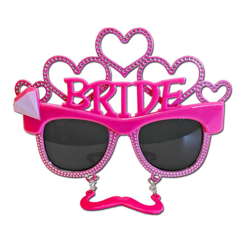 Bride To Be Costume Glasses With Moutsache