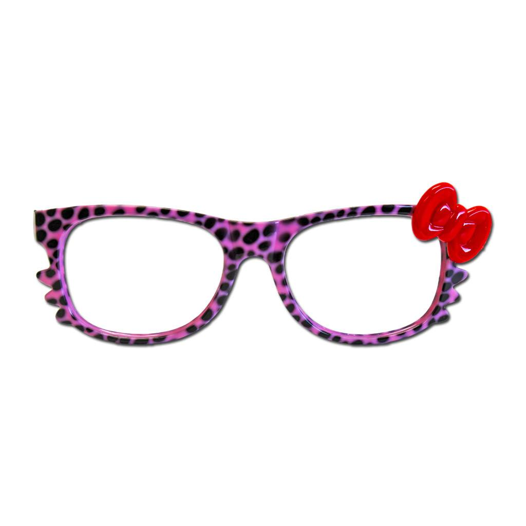 Pink Animal Print Costume Glasses accessories, animal print, costume, fancy dress, funny, glasses, masquerade, minnie mouse, pink, red, womens
