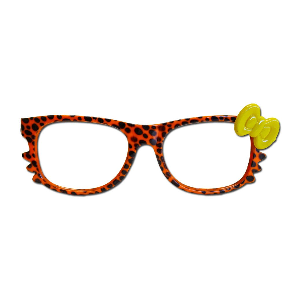 Glasses - Orange Animal Print Costume Glasses
