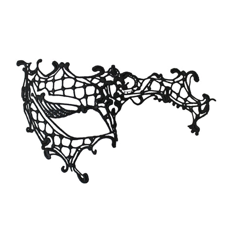 Masquerade Mask - Black Phantom Of The Opera Economy String Masquerade Mask