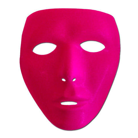 Neon Dark Pink Mat Full Face Party Mask