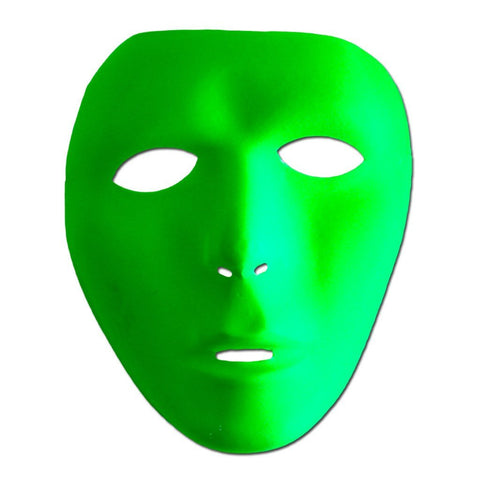 Neon Green Mat Full Face Party Mask