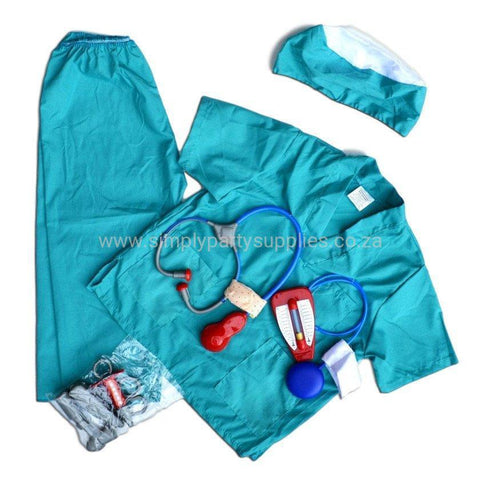 Childrens Surgeons Costume Ages 4-7 - Fancy Dress Costume - Simply Party Supplies