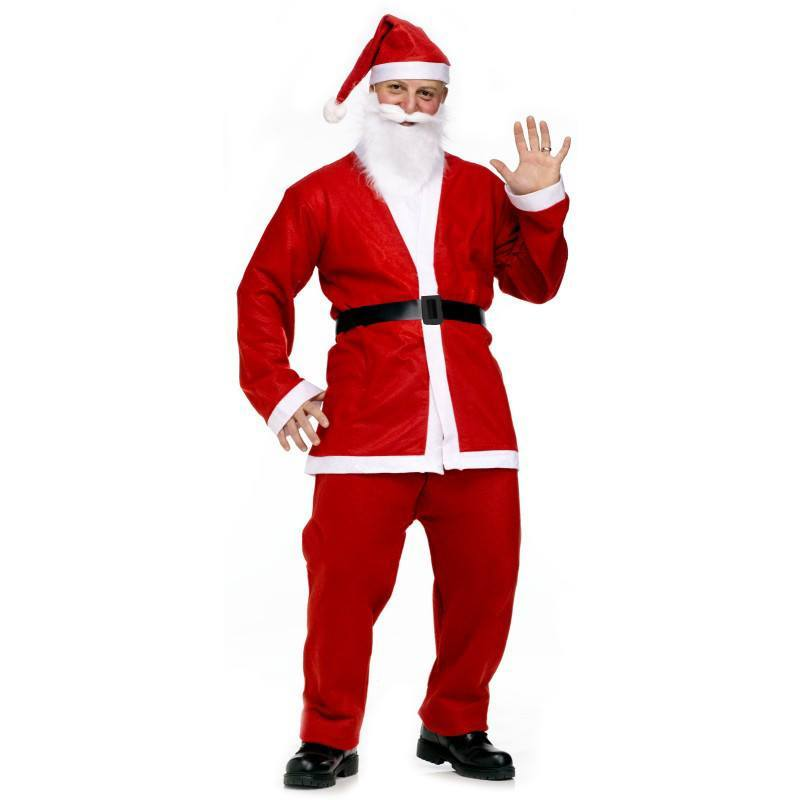 Fancy Dress Costume - Deluxe Christmas Santa Claus Costume