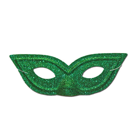 Pointy Green Glitter Masquerade Mask childrens, fancy dress, girls, glitter, green, mardi gras, masks, masquerade, womens