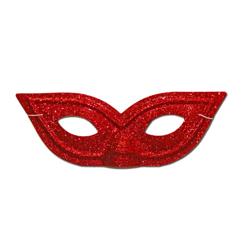 Masquerade Mask - Pointy Red Glitter Masquerade Mask