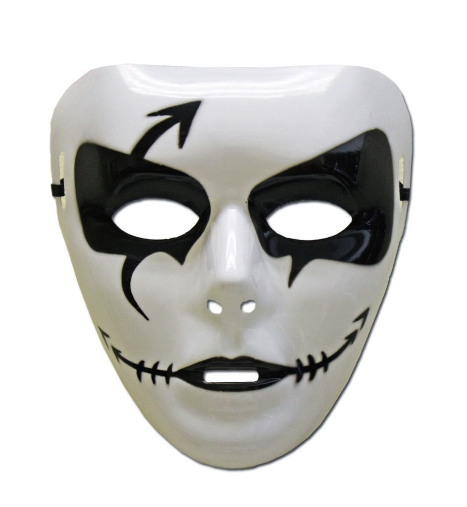 PVC Mask - Black and White Jabbawockeez Mask - Style 3