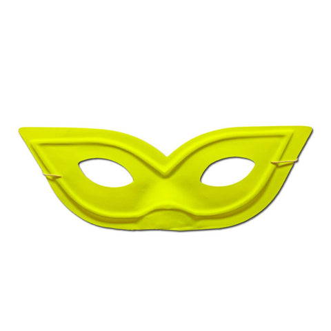 Pointy Neon Yellow Masquerade Mask
