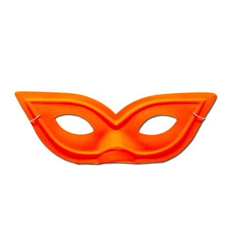 Pointy Neon Orange Masquerade Mask
