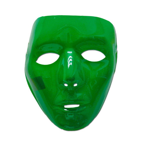 Dark Green Glossy Full Face Party Mask