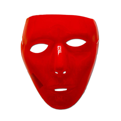 Red Glossy Full Face Party Mask adult one size, fancy dress, jabbawockeez, mardi gras, masks, mens, red, womens