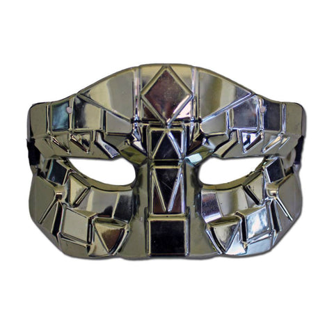 Silvery Gold Gaga Poker Face Mask