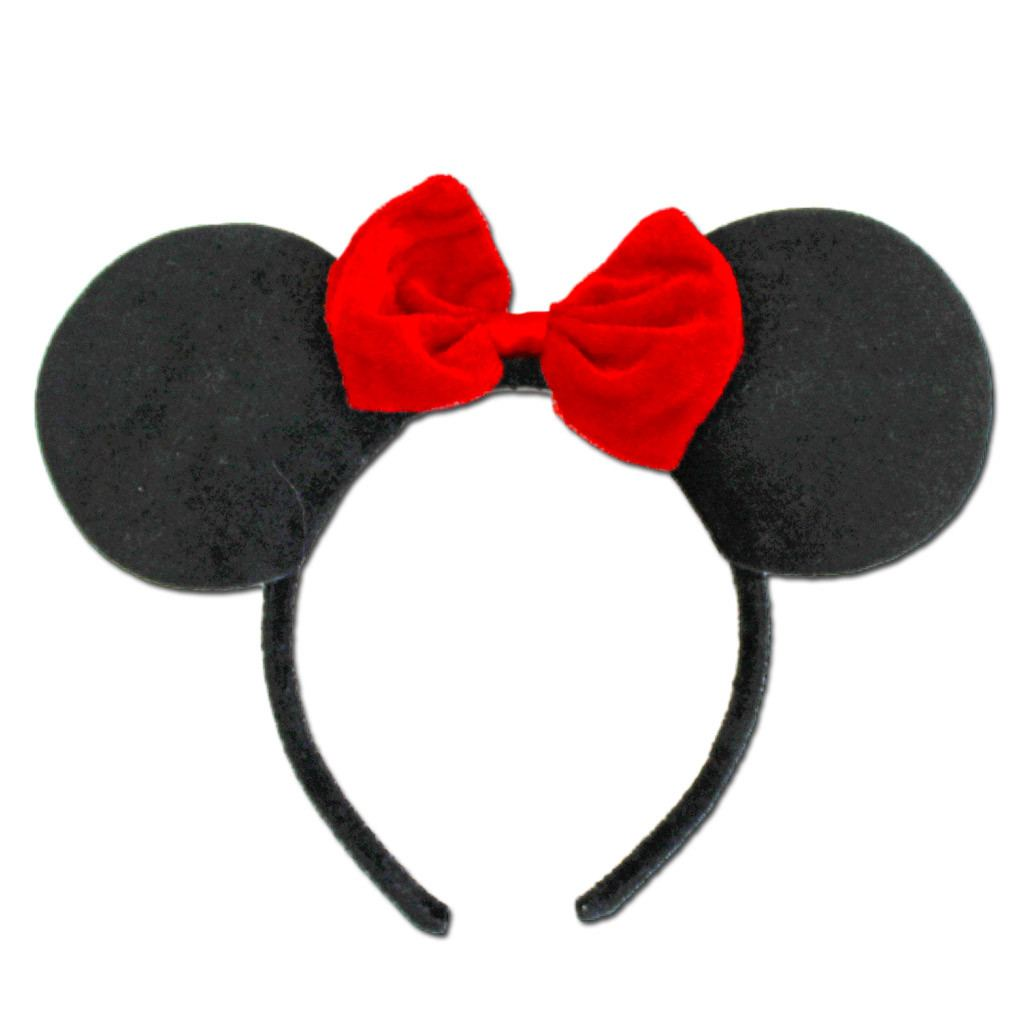 Minnie Mouse Ears With Small Red Bow accessories, character, childrens, costume, disney, ears, fancy dress, girls, minnie, minnie mouse, mouse, red