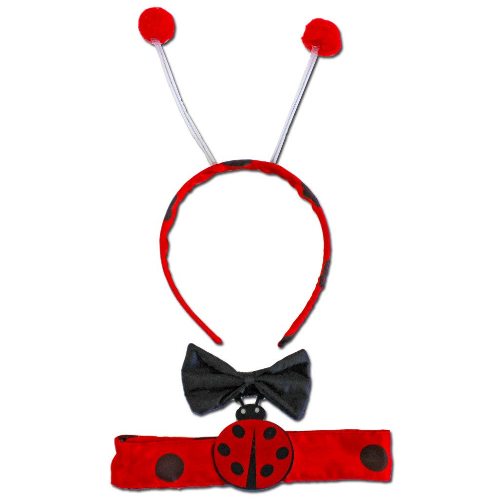 Ladybird Ears With Bow Tie And Chocker accessories, childrens, costume, ears, fancy dress, girls, ladybird, womens