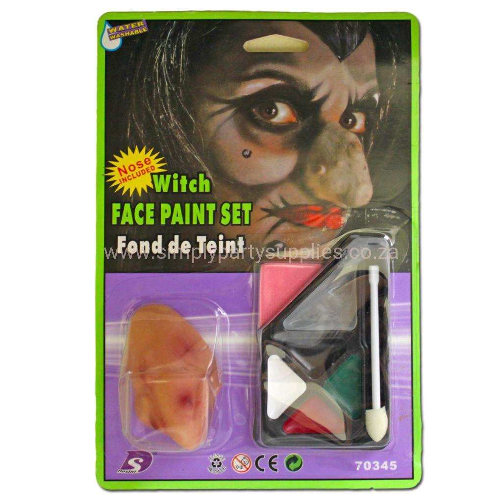 Witch Face Paint Set accessories, childrens, costume, face paint, fancy dress, halloween, makeup, witch