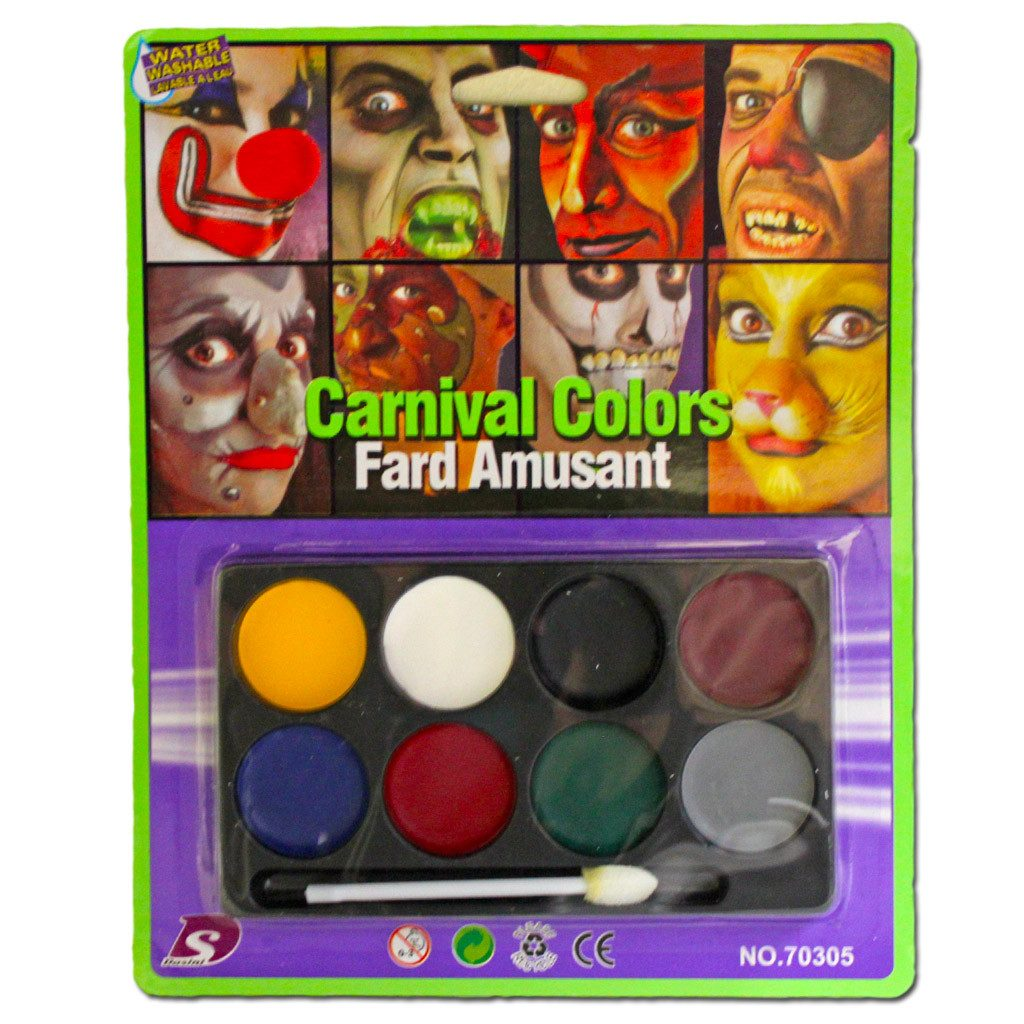 Carnival Colours Face Paint Set - Fancy Dress Costume Accessory - Simply Party Supplies