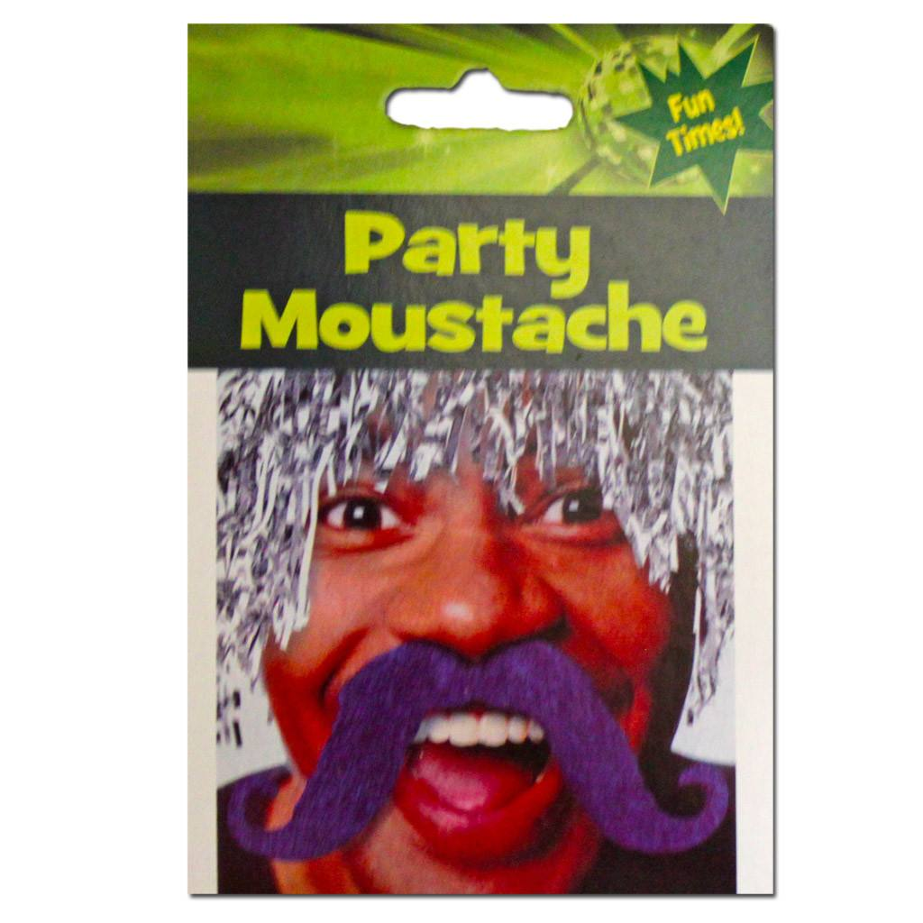 Blue Party Moustache - Fancy Dress Costume Accessory - Simply Party Supplies