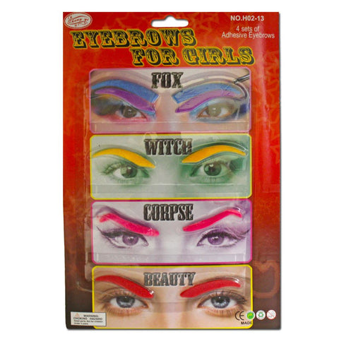 Colourful Eyebrows For Girls accessories, black, costume, eyebrows, facial hair, fancy dress, womens