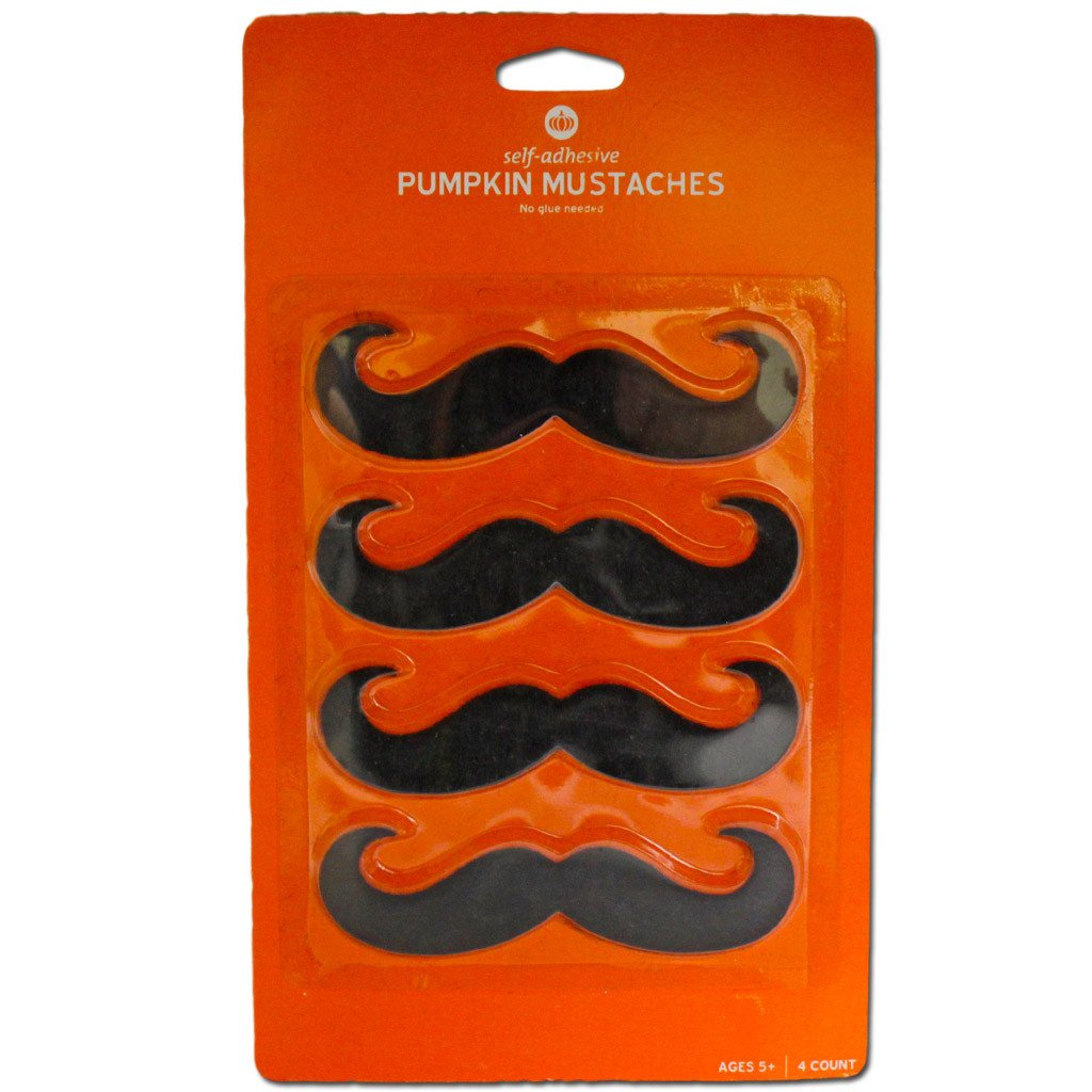 Fancy Dress Costume Accessory - Handlebar Moustache 4pc Set