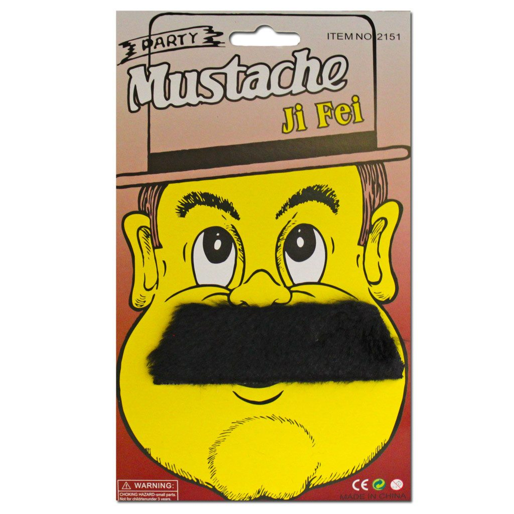 Black Wide Moustache accessories, black, costume, facial hair, fancy dress, mens, moustache