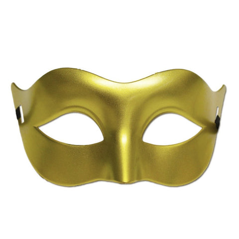 Plain Gold Masquerade Mask