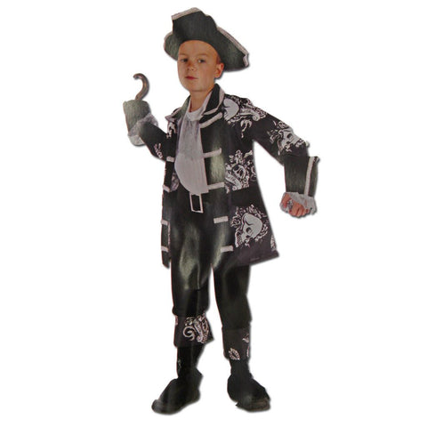 Childrens Deluxe Pirate Captain Costume Ages 6-8