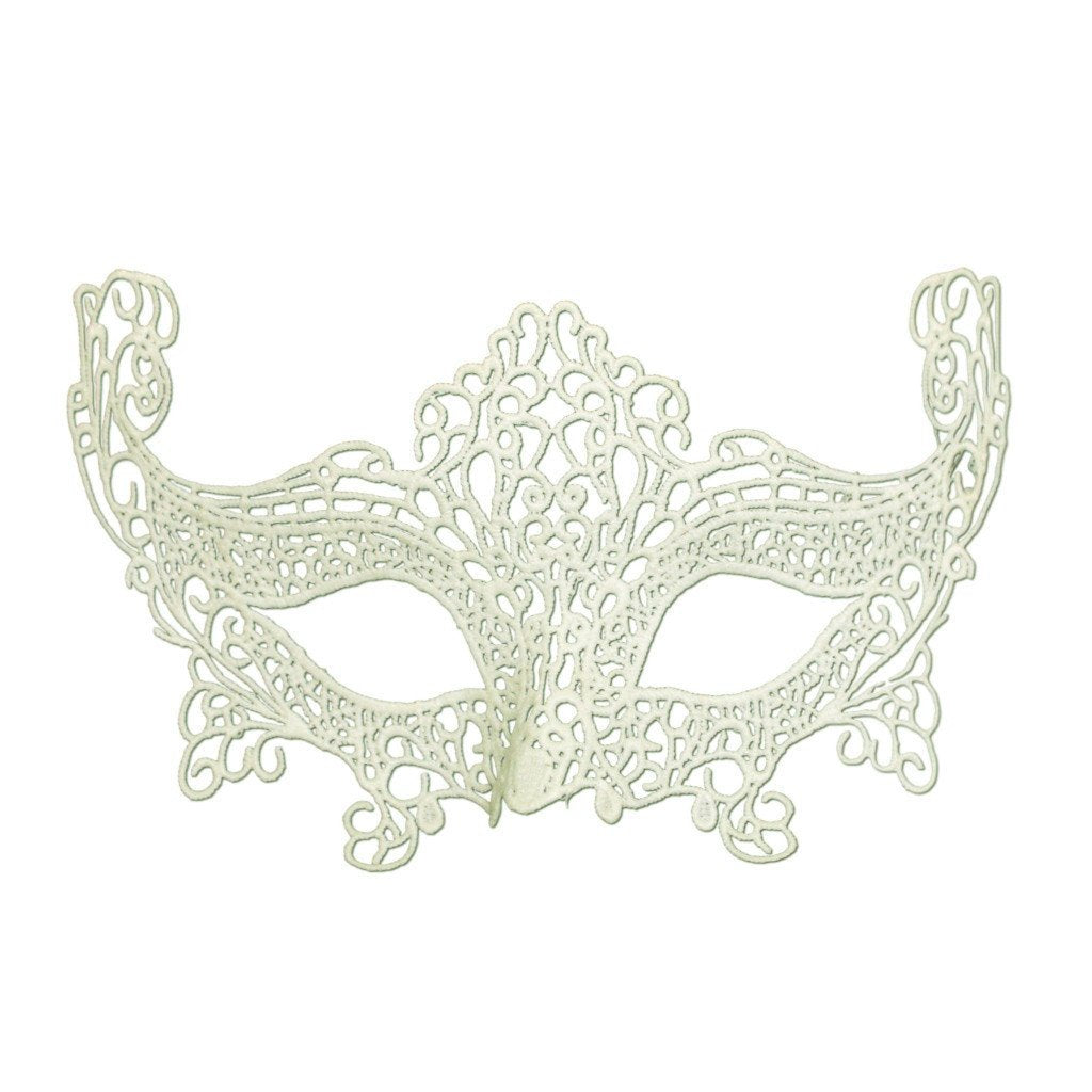 Masquerade Mask - Economy String Masquerade Mask With High Sides Cream