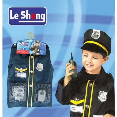 Childrens Police Officer Costume Ages 4-7 - Fancy Dress Costume - Simply Party Supplies