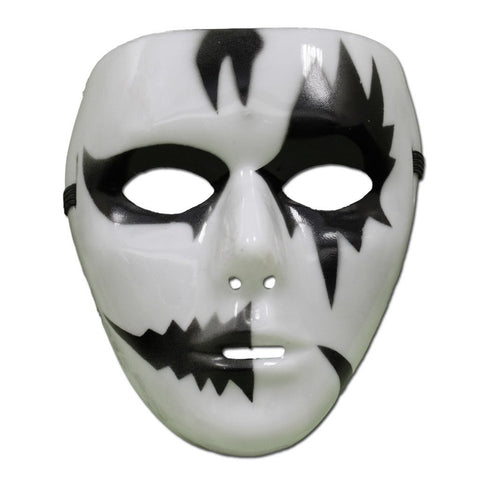 Black and White Jabbawockeez Mask - Style 1 - PVC Mask - Simply Party Supplies