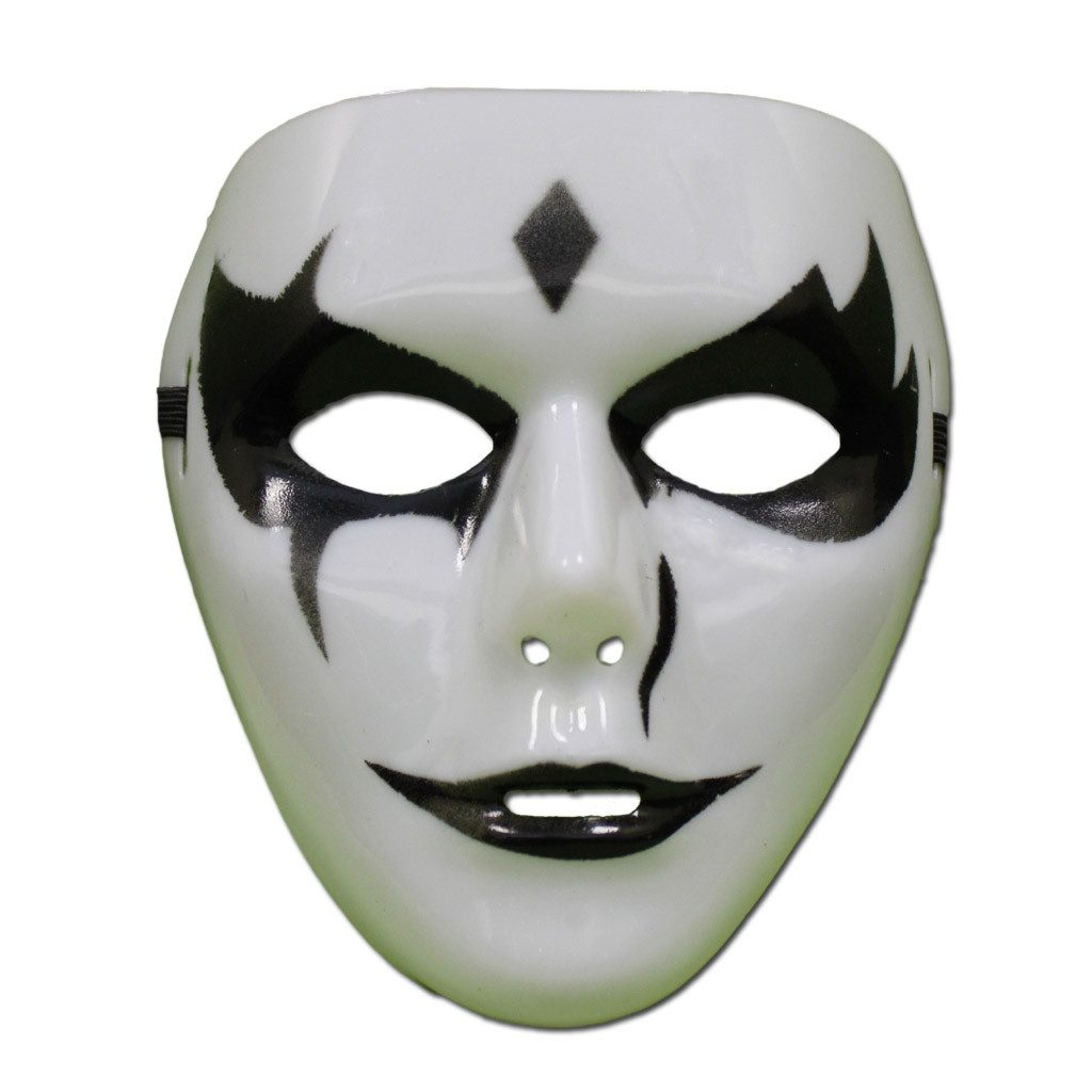 Black and White Jabbawockeez Mask - Style 5 - PVC Mask - Simply Party Supplies