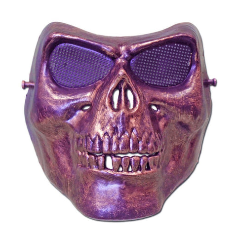 Skeleton Scary Halloween Mask With Bronze Colouring bronze, fancy dress, half masks, halloween, masks, mens, scary, skeleton