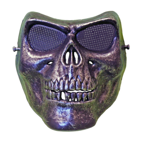 Skeleton Scary Halloween Mask With Silver Colouring fancy dress, half masks, halloween, masks, mens, scary, silver, skeleton