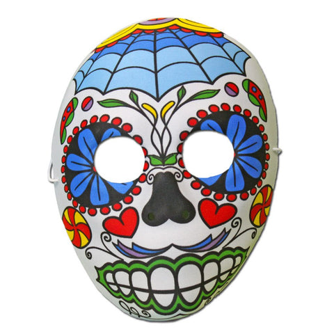 Rubber Mask - Day Of The Dead Masquerade Mask With Web Design