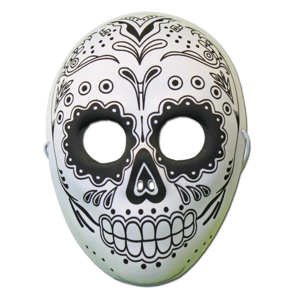 Buy Day Of The Dead Masquerade Mask With Skull Design At Simply