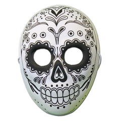 Rubber Mask - Day Of The Dead Masquerade Mask With Skull Design