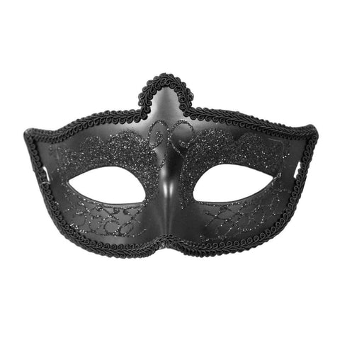 Masquerade Mask - Fancy Scout Masquerade Mask Black With Trimming