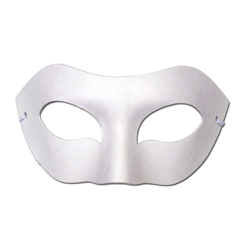 DIY Masquerade Mask - Plain diy, fancy dress, masks, masquerade, mens, venetian, white, womens