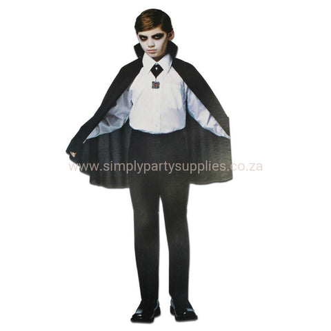 Childrens Count Dracula Cape With High Collar