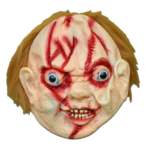 Masquerade Mask - Scary Chucky Halloween Mask With Hair