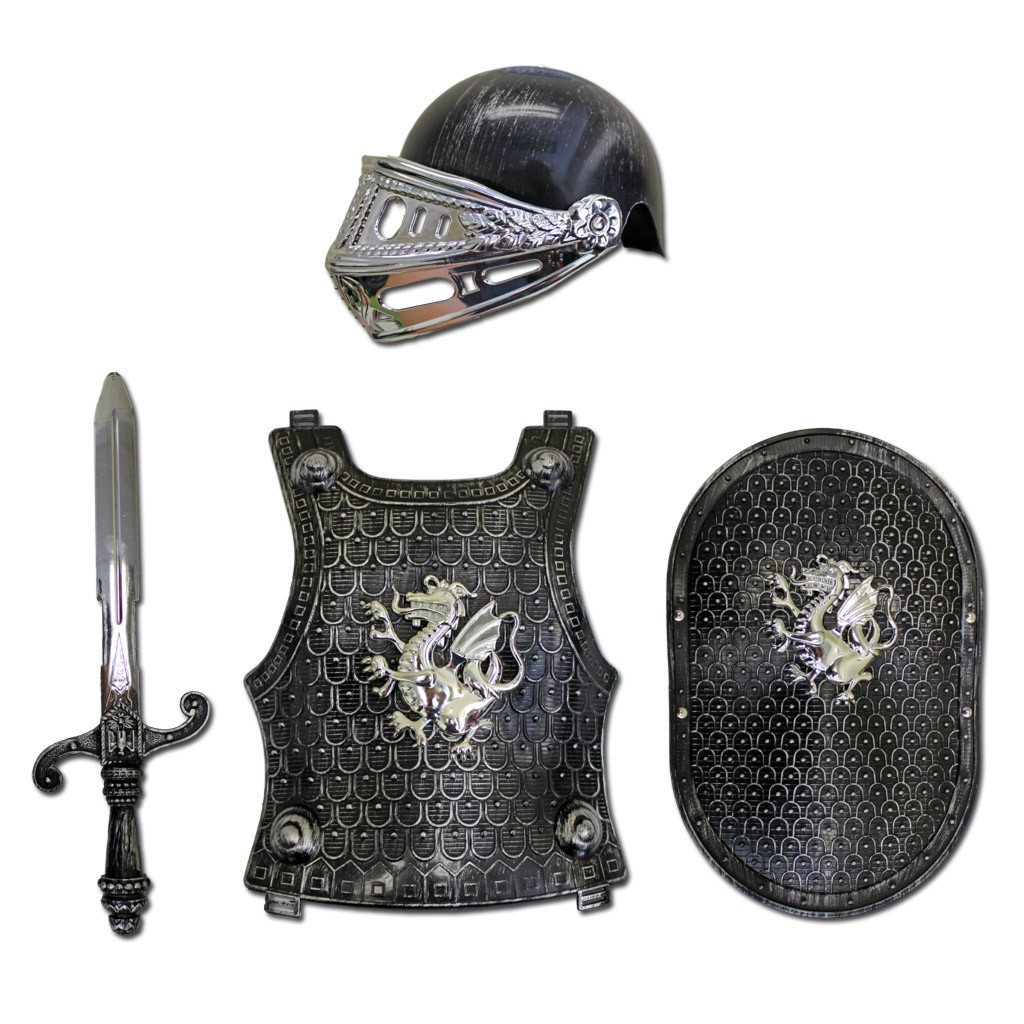 Childrens Deluxe Medieval Armor Set Ages 5-8 - Fancy Dress Costume - Simply Party Supplies