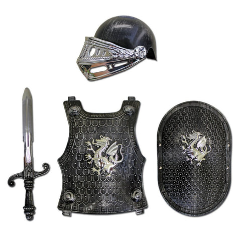 Fancy Dress Costume - Childrens Deluxe Medieval Armor Set Ages 5-8